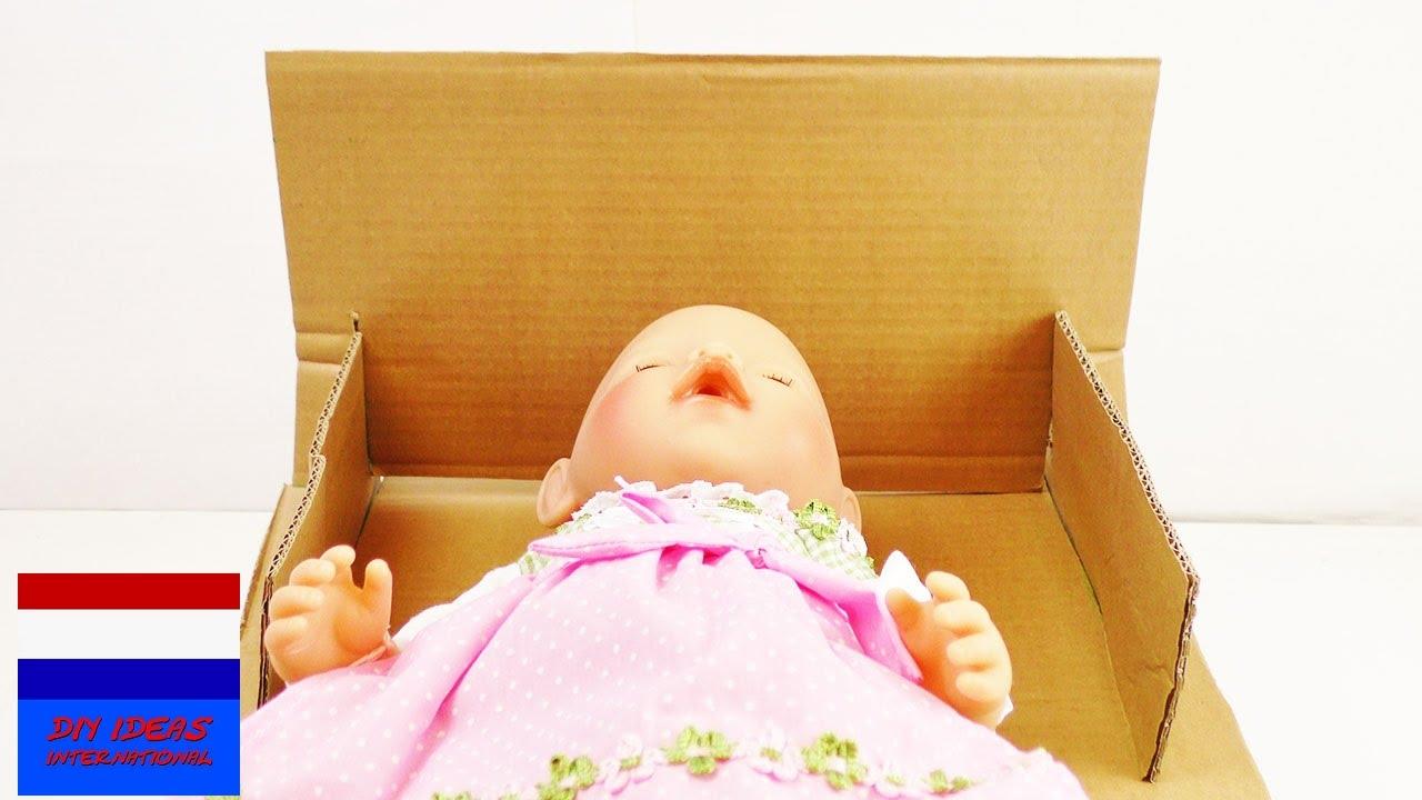 Bed Van Karton : Poppenbed maken voor baby born eenvoudig poppenbed van karton