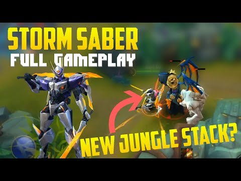 New Saber Skin FULL Gameplay + New MAP   Codename: Storm  Mobile Legends