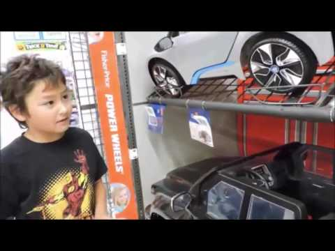Window shopping at Wal-Mart for Powered Wheels electric cars
