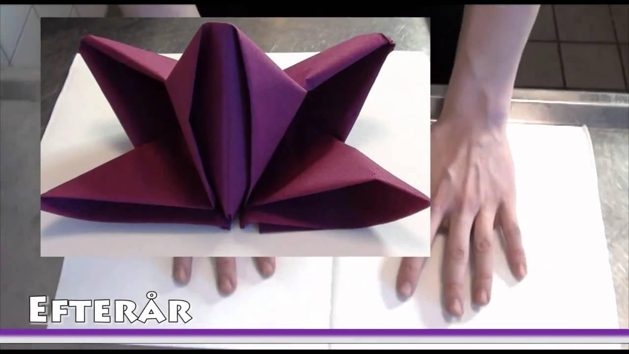 Lotus Leaf Napkin Folding : Servietter  Doovi