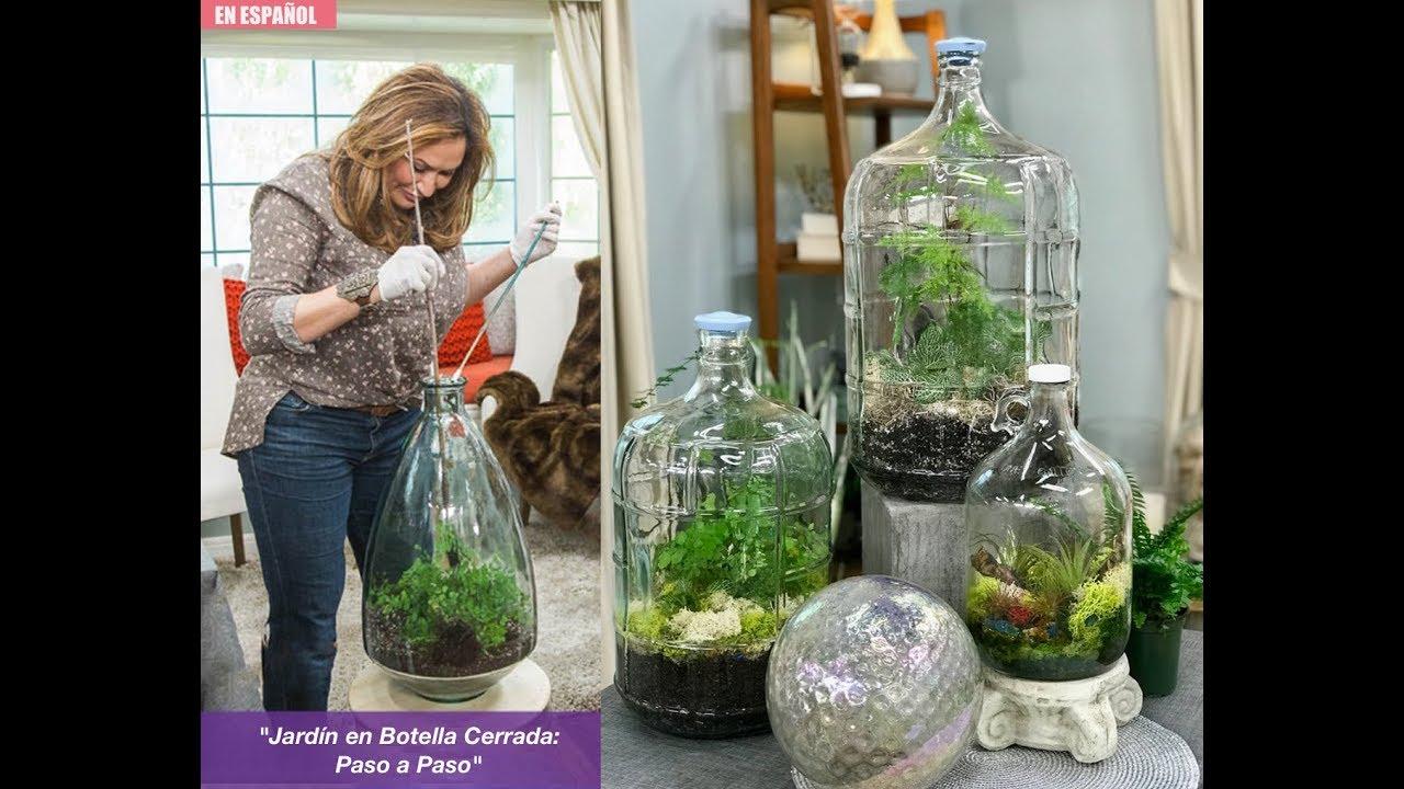 Jard n en una botella cerrada paso a paso youtube for Adornos con botellas para plantas
