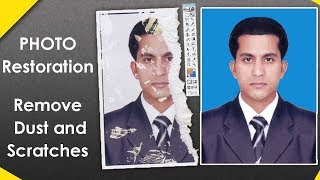 Damaged Photo Repair | Remove Dust and Scratches | Photoshop 7 Tutorial