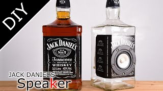 【DIY】ガラスのボトルスピーカー - JACK DANIEL\'s Glass Bottle Speaker