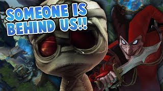 I SWEAR SOMEONE IS BEHIND US!! - League Of Legends Highlights #23