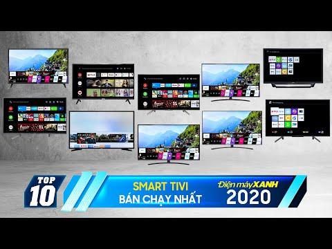 """SONY - Samsung - LG """"chiếm sóng"""" Top 10 Smart tivi bán chạy nhất năm 2020 tại Điện máy XANH"""