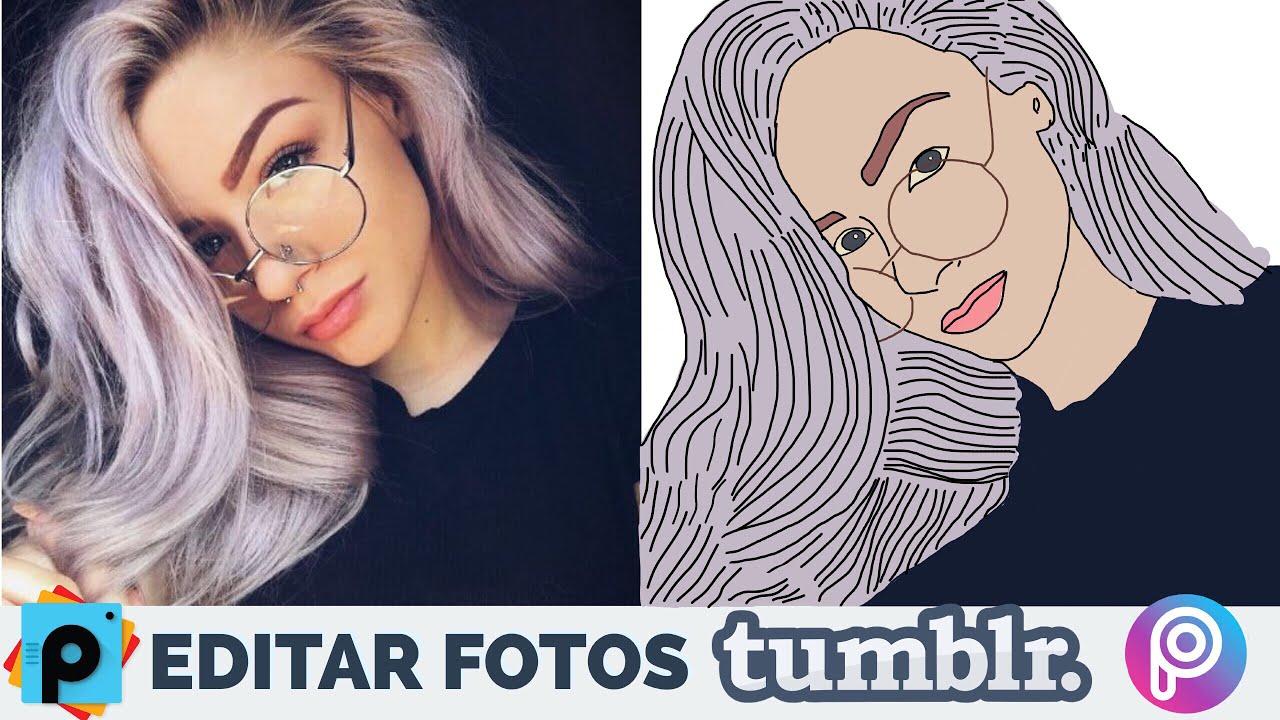 Hacer Fotos Tumblr Outlines Dibujos Tumblr Picsart Tutorial