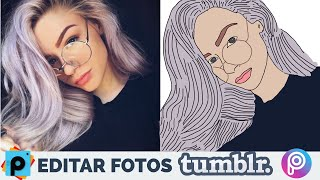 Hacer Fotos Tumblr 💙👽Outlines dibujos tumblr - PicsArt Tutorial How make tumblr photos drawings