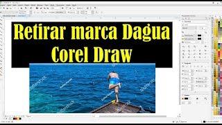 Retirar marca d'agua em imagens Corel Draw
