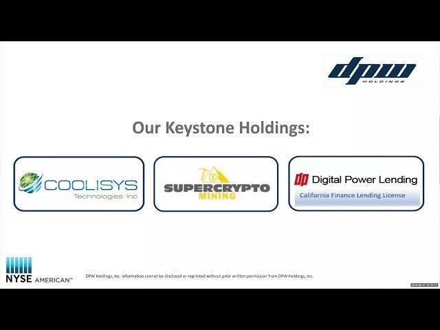 DPW Holdings Investor Webcast 05212018 1st Quarter FY 2018 Financial Review