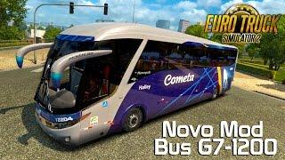 Euro Truck Simulator 2 - Novo Ônibus Paradiso G7-1200 4x2 Review Viação Cometa!