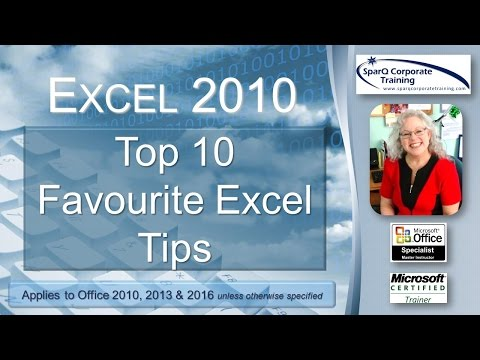 Excel 2010 - Top 10 Favourite Excel Tips