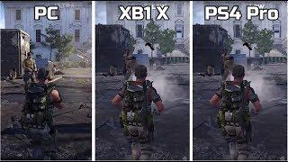 The Division 2 | PC VS Xbox One X VS PS4 Pro | 4K Grpahics Comparison