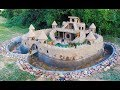 - Build Beautiful Mud House Puppy & Fish Pond Around House Puppy    Full
