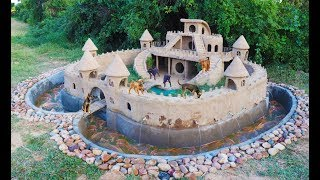 Build Beautiful Mud House Puppy & Fish Pond Around House Pup...