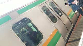 E231系1000番台上野東京ライン宇都宮線直通普通小金井行横浜駅到着&発車(S-01+K-11)
