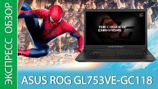 Экспресс-обзор ноутбука ASUS ROG GL753VE GC118