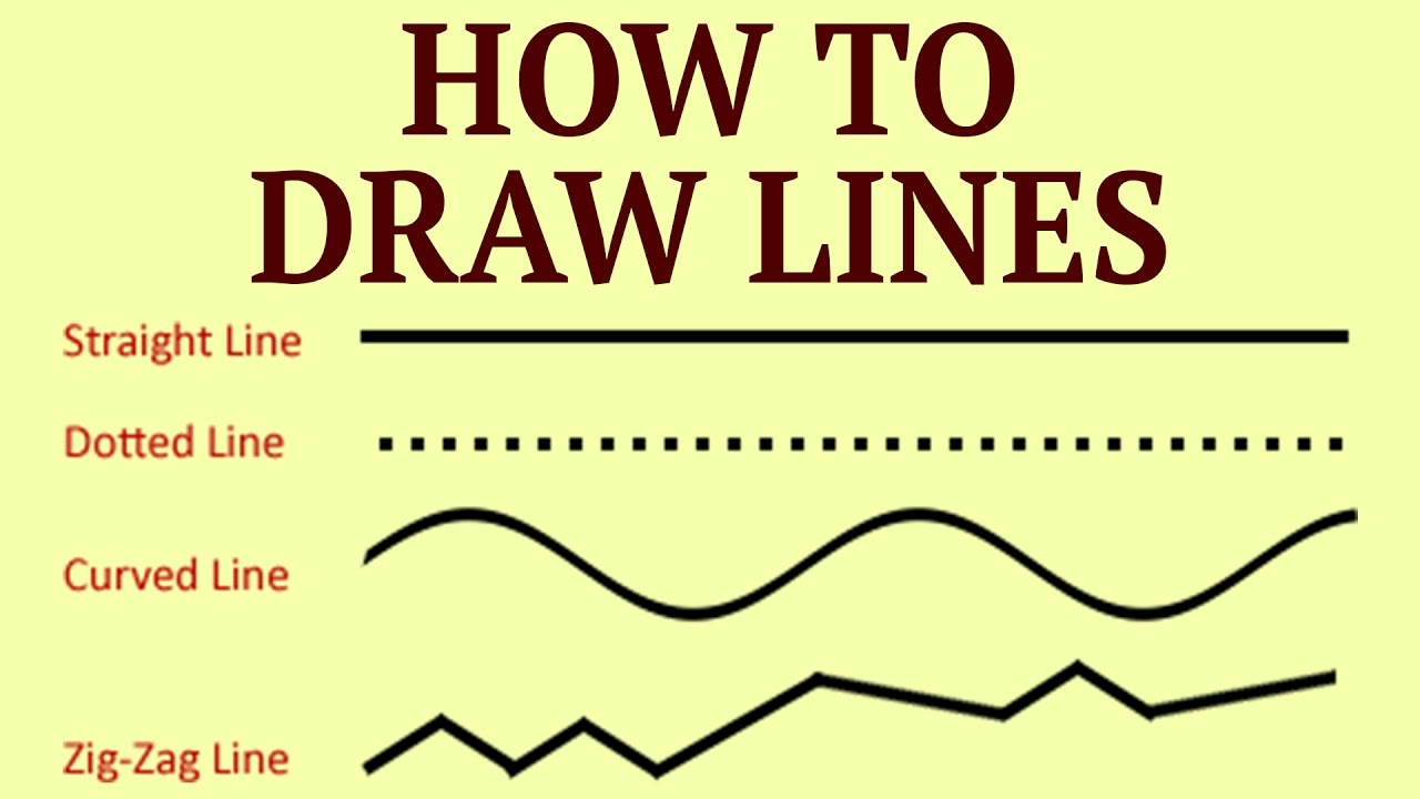 Drawing Lines Exercises : Learn how to draw lines drawing exercises for kids