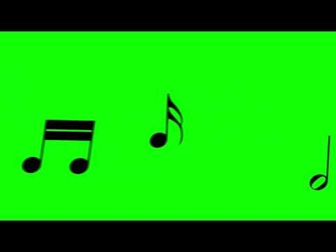 Music Notes Float Through The Picture - FreeHDGreenscreen Footage