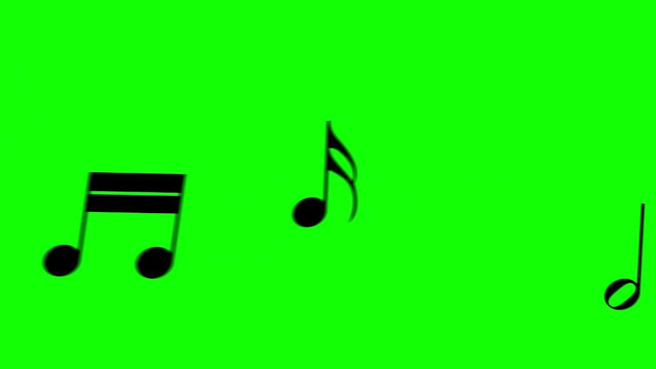 music notes float through the picture freehdgreenscreen footage