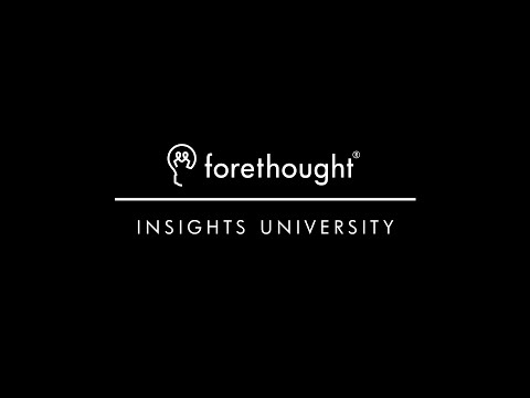Forethought Insights University 2016 Highlights