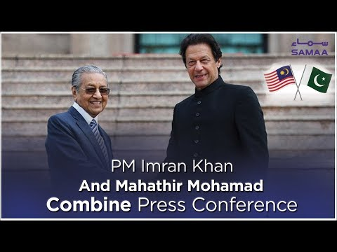 PM Imran Khan and Mahathir Mohamad Combine Press Conference | SAMAA TV | March 22, 2019