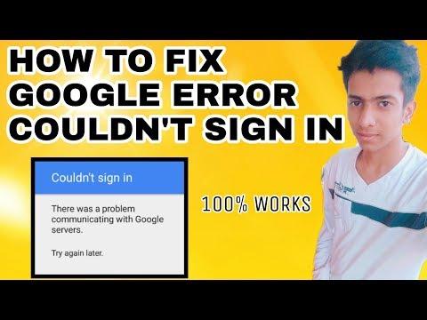 How to Fix Google Error