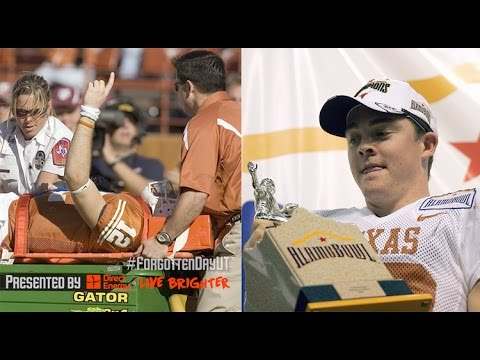 Gutsy Freshman Colt McCoy Overcomes Crushing Blow - This Forgotten Day in Longhorns Football