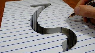 3D Trick Art on Paper   Letter Zíta   Στίχοι Ζήτα