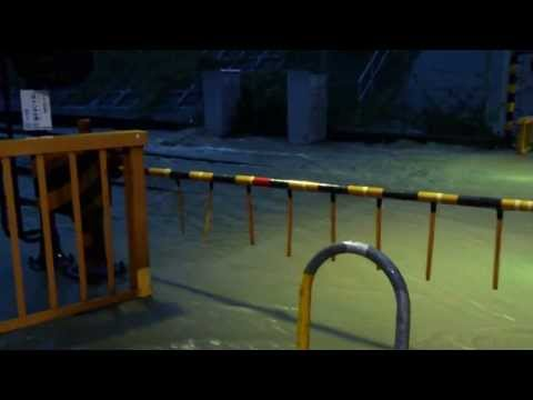 2013_9_15深夜~16未明台風被害による京都市山科区冠水