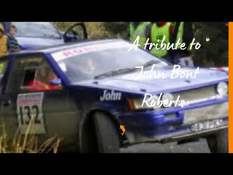 Iwan Roberts Cambrian Rally 2012 Tribute to  John Bont