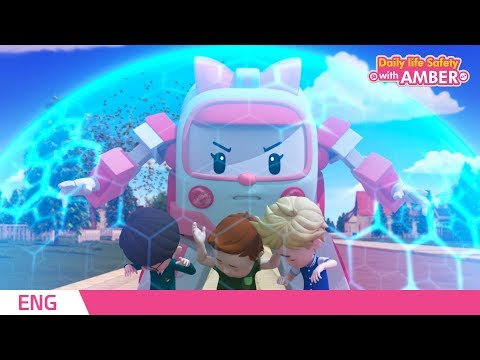 🚨 Daily life Safety with AMBER | EP 04| Robocar POLI | Kids animation