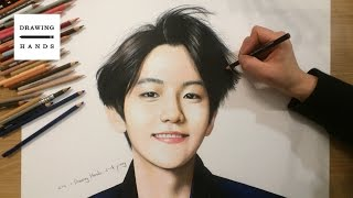 엑소 - 백현 그림 그리기 (Speed Drawing EXO Baek Hyun) [Drawing Hands]