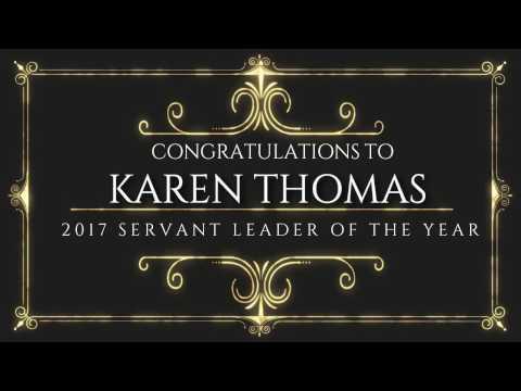 Karen Thomas 2017 Servant Leader of the Year