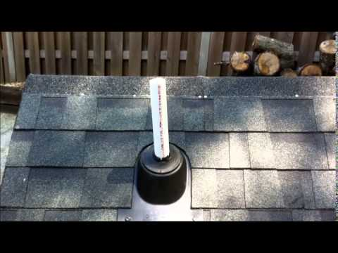 How To Install A Rain Collar On A Plumbing Roof Vent Youtube