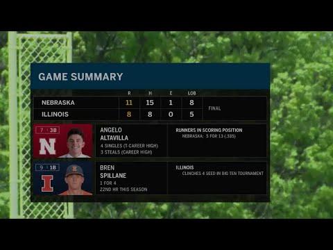 Nebraska at Illinois - Baseball Highlights