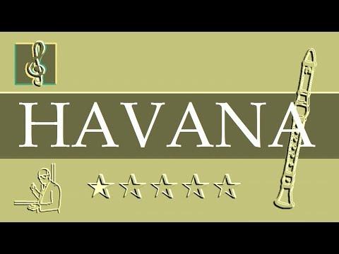 Recorder Notes Tutorial - Camila Cabello - Havana ft. Young Thug (Sheet Music)