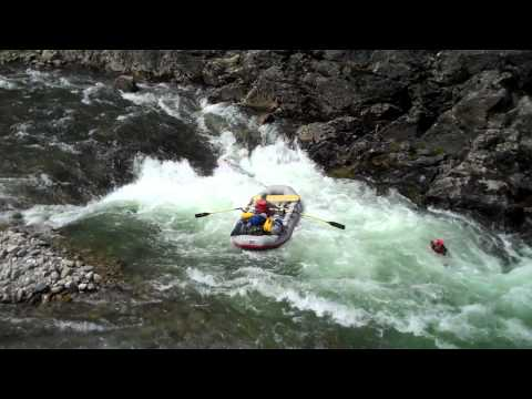 Middle Fork of the Salmon, Pistol Creek rapids ejection