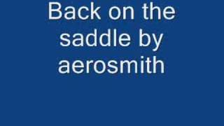 Back in the Saddle by Aerosmith with lyrics