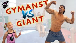 Gymnast vs Giant 3! Who is stronger, Payton or the Bodybuilder?