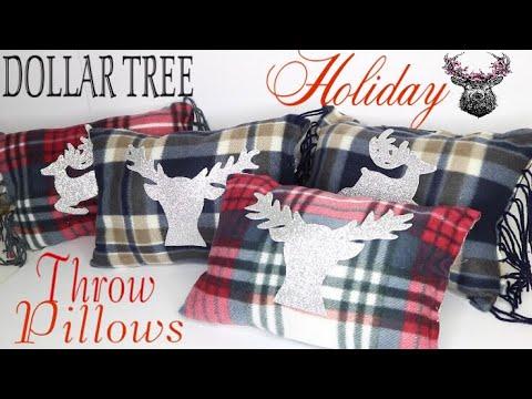 0f5b1603be Dollar Tree DIY Christmas Pillows 🎄 No Sew Pillow - YouTube