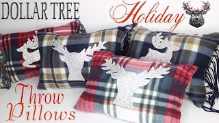 Dollar Tree DIY Christmas Pillows 🎄 No Sew Pillow