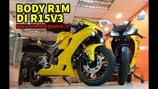Yamaha R15 V3 Modified || Install R6 Mask In R15 V3