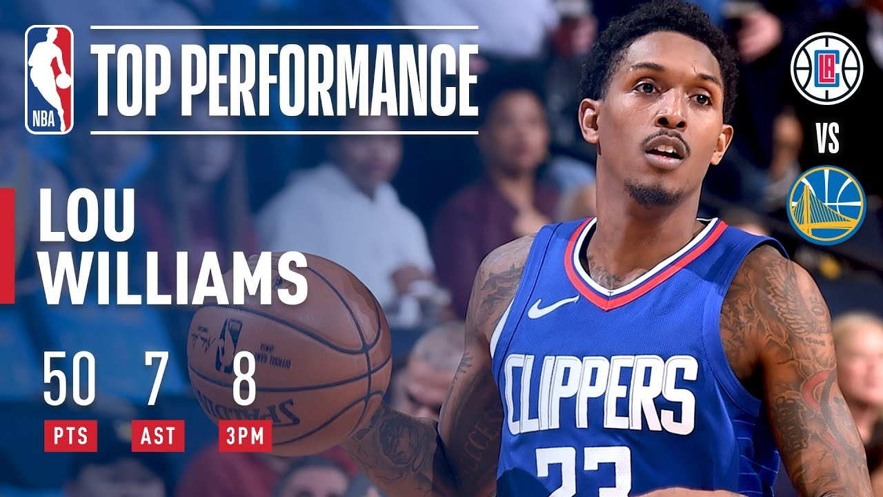 Lou Williams scores career-high 50 points in Clippers' victory against Warriors