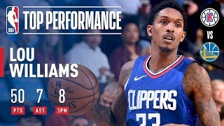 Lou Williams Scores Career High 50 Points vs The Golden State Warriors