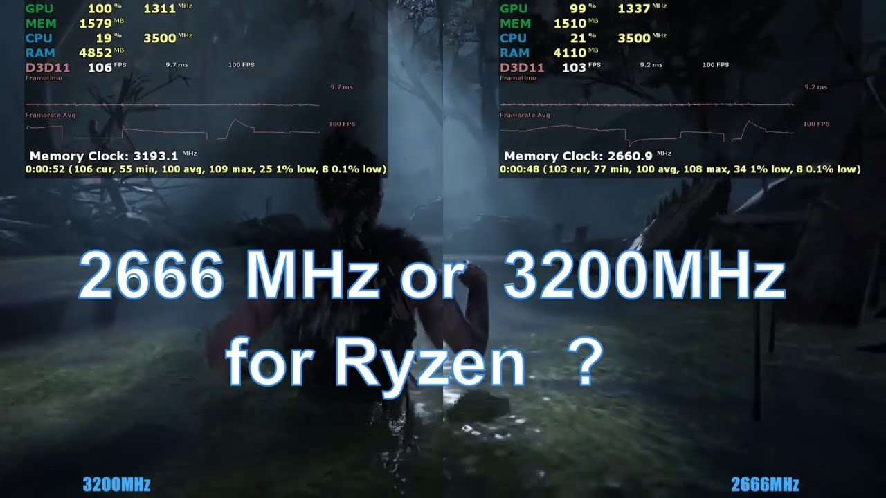 2666mhz vs 3200mhz RAM Test in 12 Games | AMD Ryzen