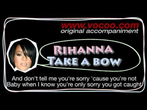 Rihanna  - Take a bow (Karaoke/original accompaniment / Instrumental / lyrics)