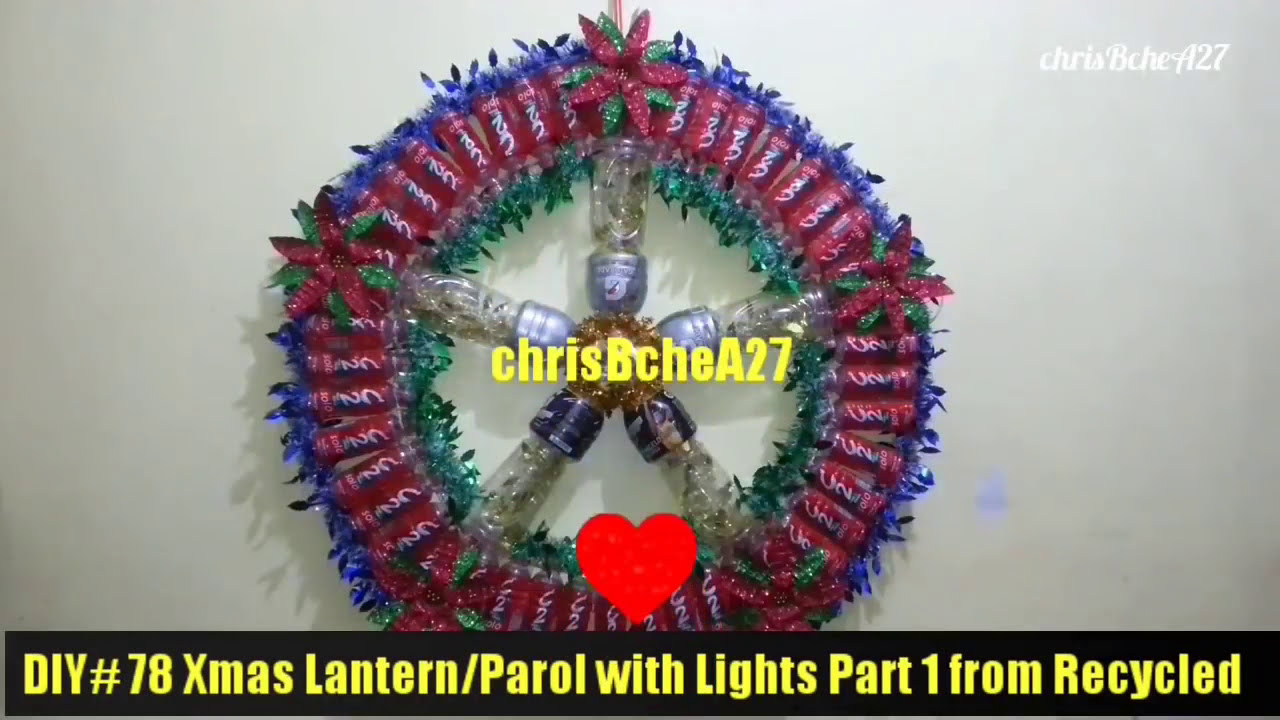 DIY 78 Big Xmas LanternParol with Lights