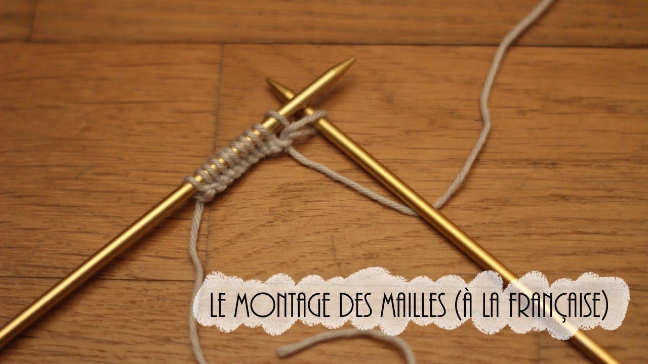 {Tricot} Le montage des mailles à la française // Knit Spirit X A Little Mercerie - YouTube