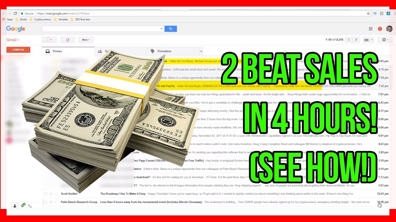 2 Beat Sales in 4 Hours (see how!) - How To Sell Beats Online