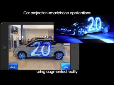 Car projection-mapping Augmented Reality app by ARworks